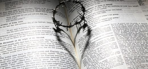 Crown of thorns with shadow of love
